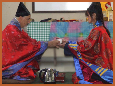 Daoist training priest ceremony